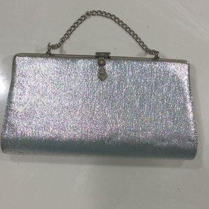 Dazzling vintage silver bag